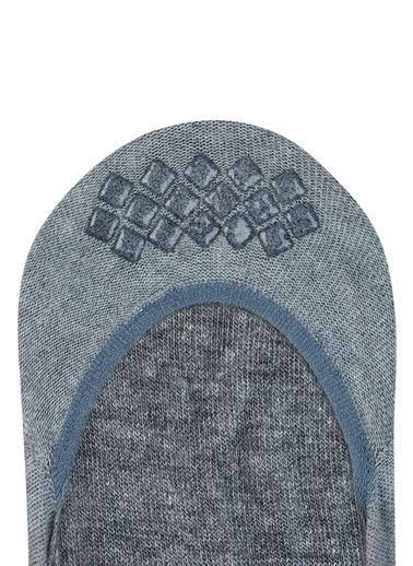 Falke Falke 101645149 Logo Baskılı Jakarlı Kaydırmaz Bantlı Pamuk Erkek Babet Çorap Gri